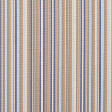 Load image into Gallery viewer, Essentials Indoor Outdoor Gray Greige Blue Apricot Beige Stripe Upholstery Fabric / Chambray