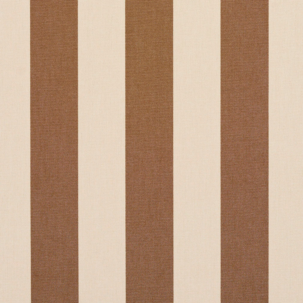 Essentials Indoor Outdoor Tan Upholstery Stripe Fabric / Khaki