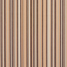 Load image into Gallery viewer, Essentials Indoor Outdoor Brown Beige Gray Charcoal White Tan Stripe Upholstery Fabric / Earth