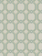 Load image into Gallery viewer, 2 Colors Embroidered Drapery Fabric Blue Seafoam Geometric