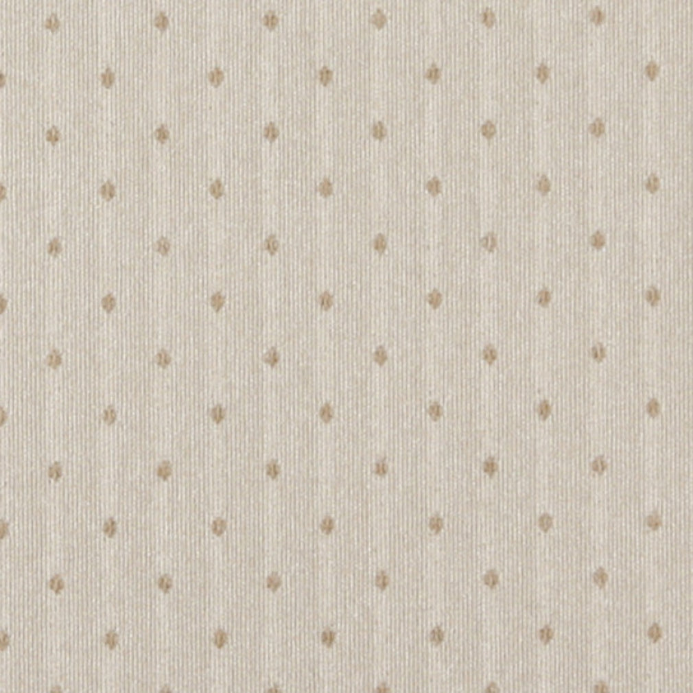 Essentials Ivory Beige Upholstery Fabric / Natural Dot