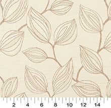 Load image into Gallery viewer, Essentials Cityscapes Ivory Brown Botanical Leaf Pattern Upholstery Fabric