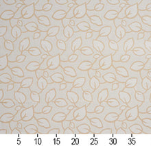 Load image into Gallery viewer, Essentials Upholstery Drapery Botanical Leaf Pattern Fabric / Ivory Cream