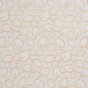 Essentials Upholstery Drapery Botanical Leaf Pattern Fabric / Ivory Cream