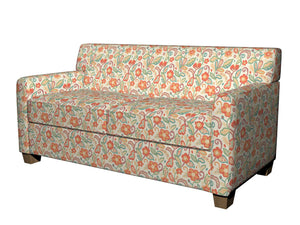 Essentials Cityscapes Ivory Orange Teal Mauve Green Beige Floral Upholstery Drapery Fabric