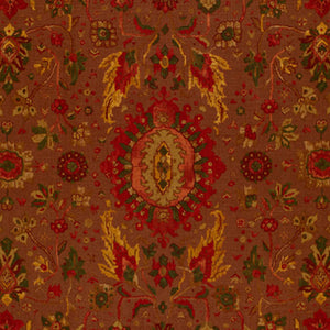 Schumacher JAHANARA CARPET SPICE BROWN FABRIC