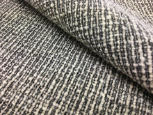 Load image into Gallery viewer, Kravet Design 35665-21 Charcoal Gray Ivory Cream Black Textured Mid Century Modern Upholstery Fabric