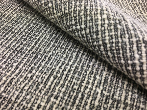 Kravet Design 35665-21 Charcoal Gray Ivory Cream Black Textured Mid Century Modern Upholstery Fabric