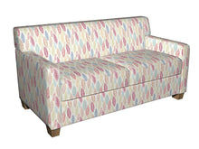 Load image into Gallery viewer, Essentials Drapery Upholstery Leaves Fabric / Crimson Green Blue Whitw
