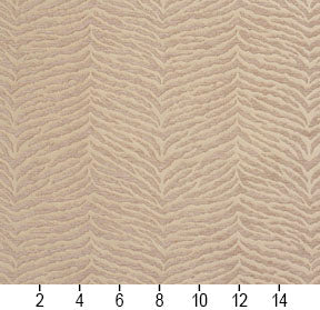 Essentials Chenille Light Brown Cream Animal Pattern Zebra Tiger Upholstery Fabric
