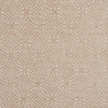 Load image into Gallery viewer, Essentials Chenille Light Brown Cream Geometric Medallion Upholstery Fabric