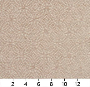 Essentials Chenille Light Brown Cream Geometric Medallion Upholstery Fabric