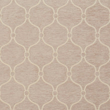 Load image into Gallery viewer, Essentials Chenille Light Brown Cream Geometric Trellis Upholstery Fabric