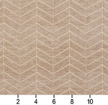 Load image into Gallery viewer, Essentials Chenille Light Brown Cream Geometric Zig Zag Chevron Upholstery Fabric