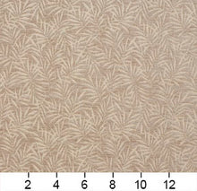 Load image into Gallery viewer, Essentials Chenille Light Brown Cream Leaf Branches Upholstery Fabric