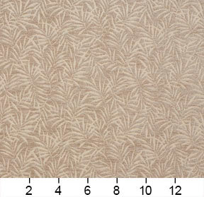 Essentials Chenille Light Brown Cream Leaf Branches Upholstery Fabric