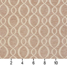 Load image into Gallery viewer, Essentials Chenille Light Brown Cream Oval Trellis Upholstery Fabric