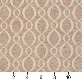 Essentials Chenille Light Brown Cream Oval Trellis Upholstery Fabric