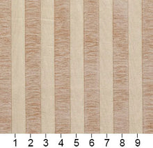 Load image into Gallery viewer, Essentials Chenille Light Brown Cream Stripe Upholstery Fabric