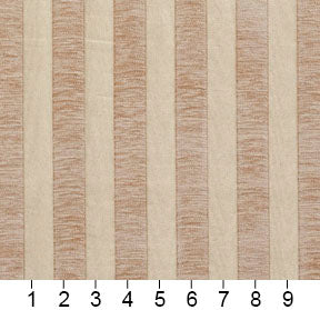 Essentials Chenille Light Brown Cream Stripe Upholstery Fabric