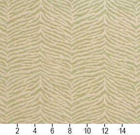 Essentials Chenille Light Olive Cream Animal Pattern Zebra Tiger Upholstery Fabric