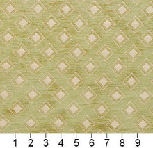 Load image into Gallery viewer, Essentials Chenille Light Olive Cream Geometric Diamond Upholstery Fabric