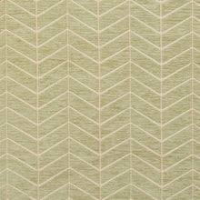 Load image into Gallery viewer, Essentials Chenille Light Olive Cream Geometric Zig Zag Chevron Upholstery Fabric