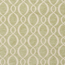 Load image into Gallery viewer, Essentials Chenille Light Olive Cream Oval Trellis Upholstery Fabric