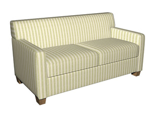 Essentials Chenille Light Olive Cream Stripe Upholstery Fabric