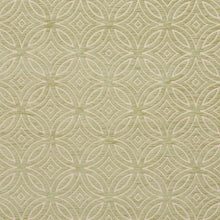 Load image into Gallery viewer, Essentials Chenille Light Olive Cream Geometric Medallion Upholstery Fabric