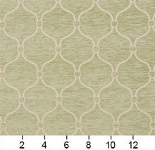 Load image into Gallery viewer, Essentials Chenille Light Olive Cream Geometric Trellis Upholstery Fabric