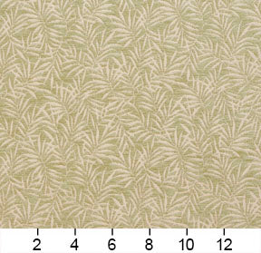 Essentials Chenille Light Olive Cream Leaf Branches Upholstery Fabric