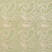 Load image into Gallery viewer, Essentials Chenille Light Olive Cream Paisley Upholstery Fabric