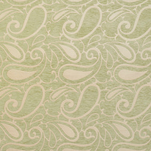 Essentials Chenille Light Olive Cream Paisley Upholstery Fabric