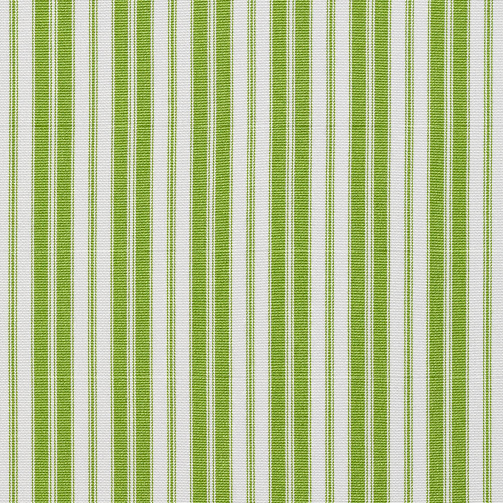 Essentials Outdoor Lime Classic Green Stripe Upholstery Fabric