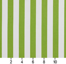 Load image into Gallery viewer, Essentials Outdoor Lime Canopy Green White Stripe Upholstery Fabric