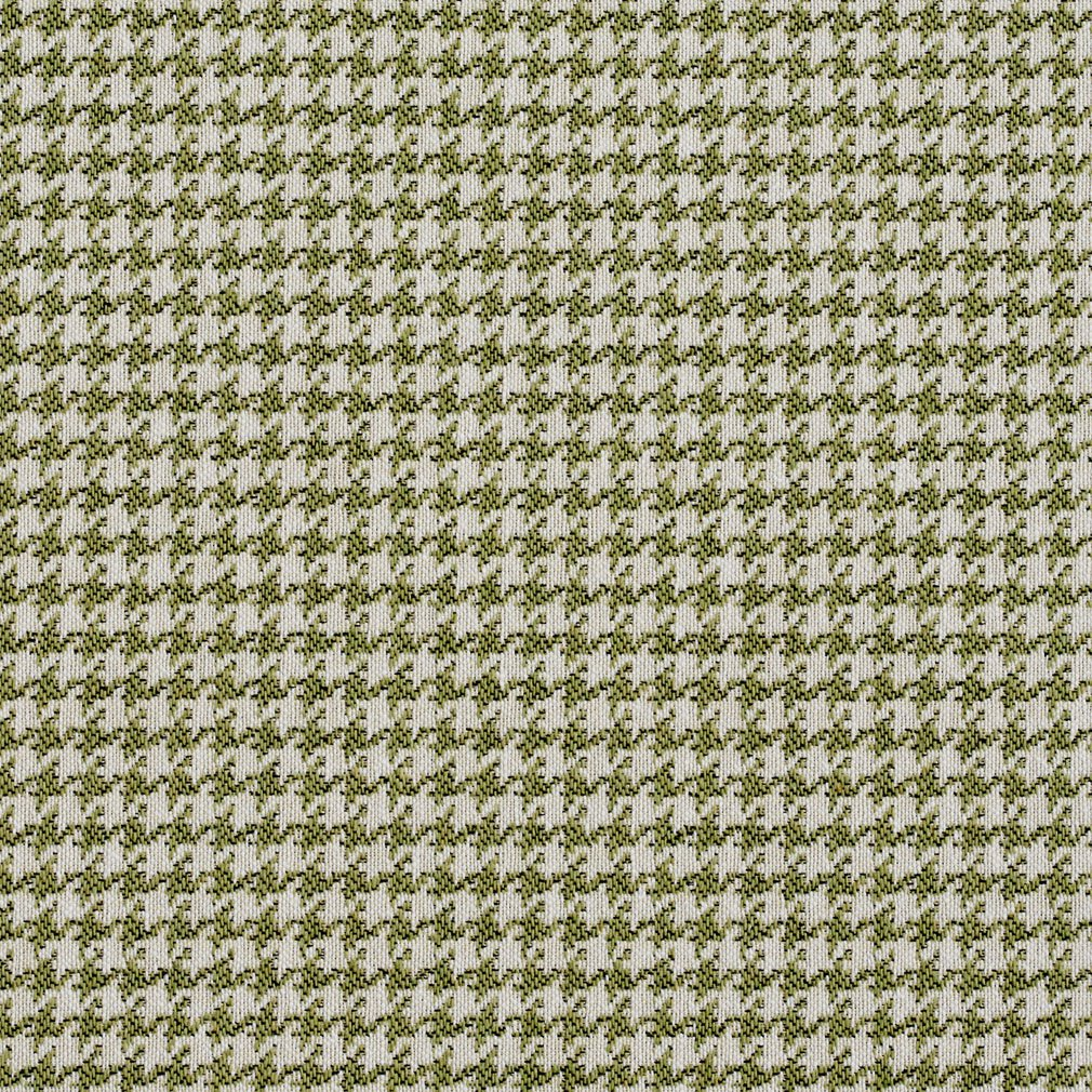 Essentials Lime White Upholstery Fabric / Spring Houndstooth