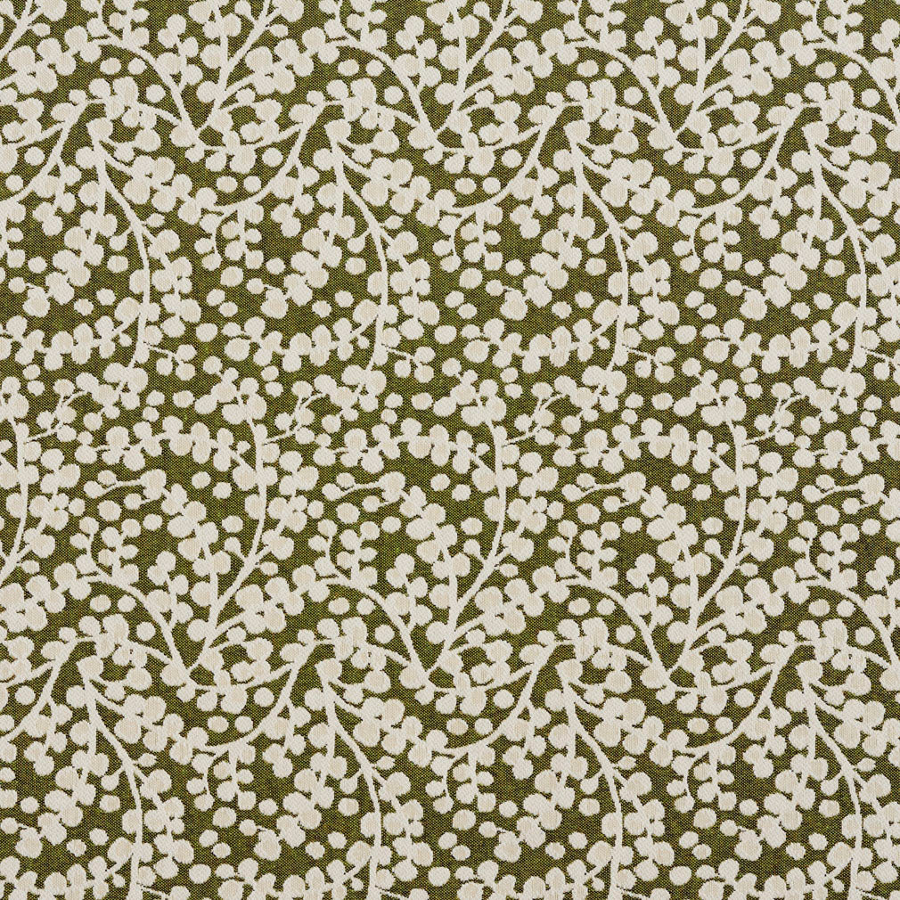 Essentials Lime White Upholstery Fabric / Spring Vine