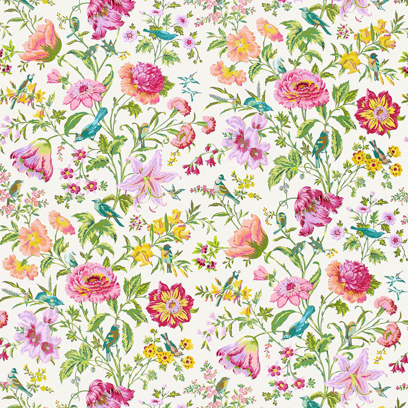 SCHUMACHER AVONDALE FLORAL FABRIC / MEADOW