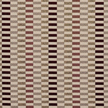 Load image into Gallery viewer, Essentials Maroon Yellow Tan Geometric Upholstery Fabric / Wine Shift