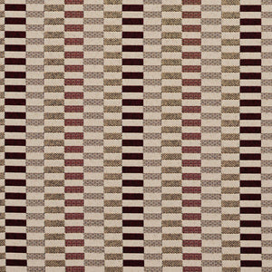 Essentials Maroon Yellow Tan Geometric Upholstery Fabric / Wine Shift