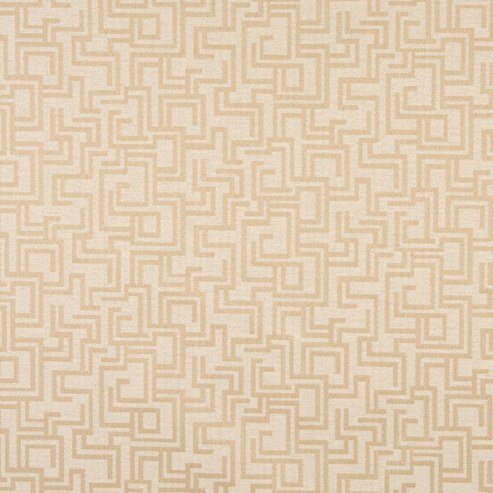 Essentials Indoor Outdoor Upholstery Drapery Maze Fabric Beige / Sand Geometric