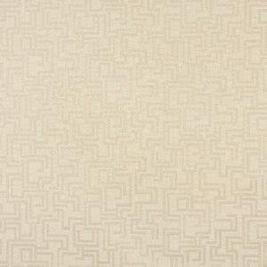 Essentials Indoor Outdoor Upholstery Drapery Maze Fabric / Ivory Geometric