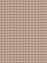 Load image into Gallery viewer, Houndstooth Geometric Upholstery Fabric Blush Mauve Beige Cream