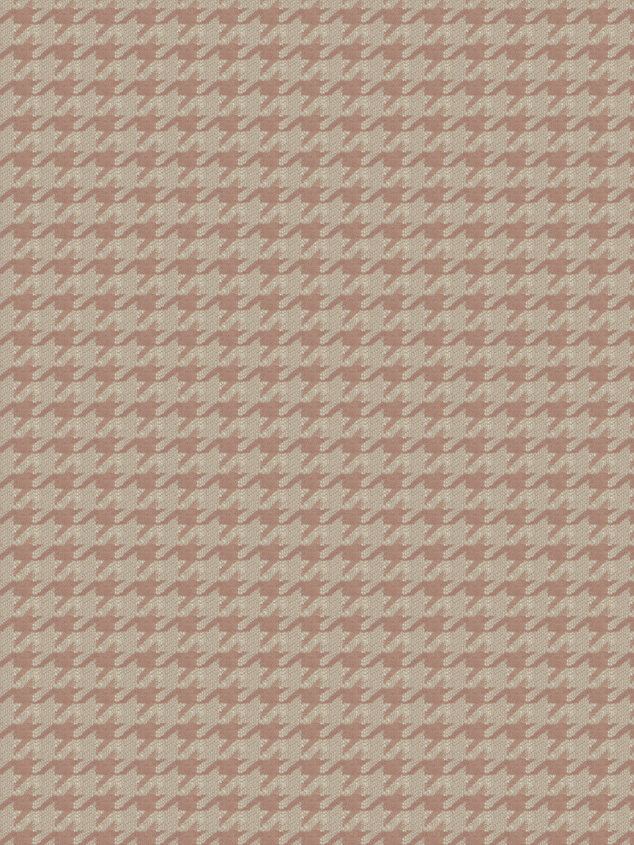 Houndstooth Geometric Upholstery Fabric Blush Mauve Beige Cream