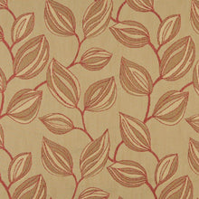 Load image into Gallery viewer, Essentials Cityscapes Mustard Sienna Botanical Leaf Pattern Upholstery Fabric