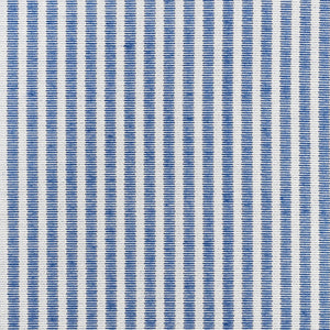 SCHUMACHER EASTON STRIPE INDOOR OUTDOOR FABRIC / NAVY
