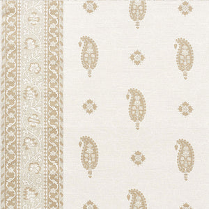 SCHUMACHER OJAI PAISLEY FABRIC / NEUTRAL