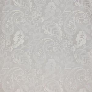 Navedano Sheer Off White Embroidered Floral Damask Drapery Fabric