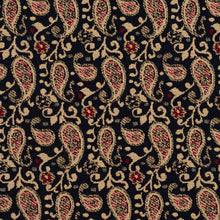 Load image into Gallery viewer, Essentials Navy Beige Red Upholstery Fabric / Port Paisley